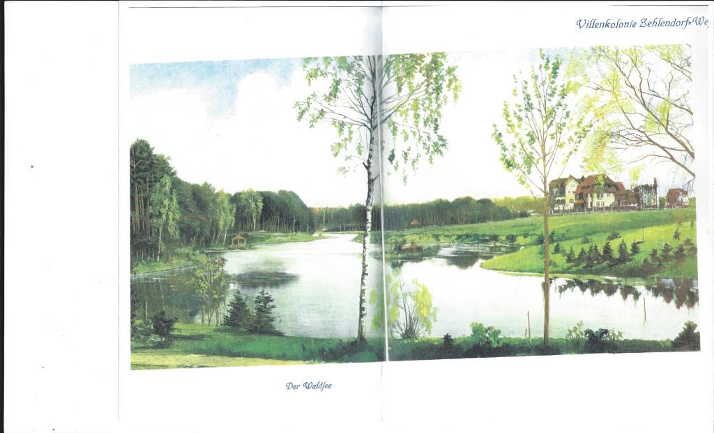 Waldsee Anfang 20.Jahrhundert